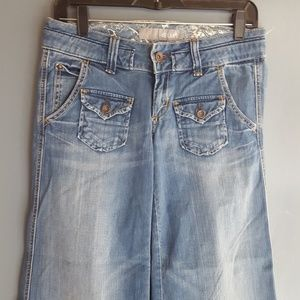 Delias wide leg flare gaucho jeans